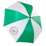Klein zusammenklappbarer Regenschirm mit unserem Rundlogo drauf - 10 €